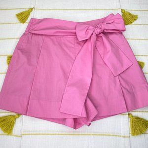 J Crew Pink Tie Waist Shorts Womens 8 High Rise
